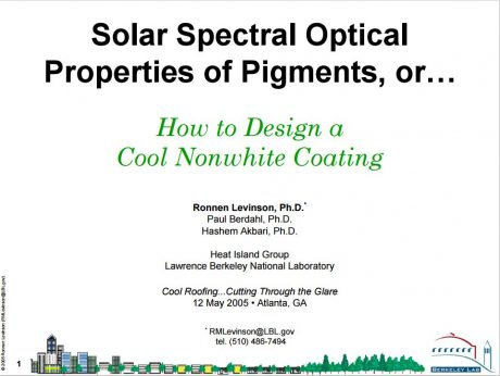 How to Design a Cool Nonwhite Coating